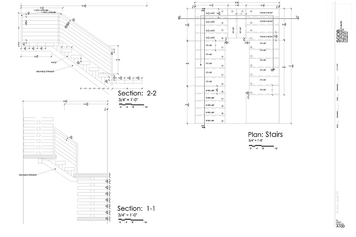 Stair Case Shop Drawing 01